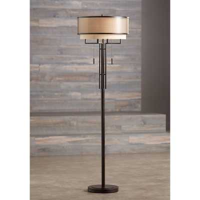 Franklin Iron Works Alamo Floor Lamp with Double Shade - Style # 32X88 - Lamps Plus