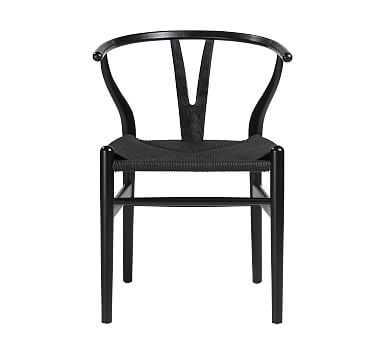 Faith Side Chair, Set of 2, Black - Pottery Barn