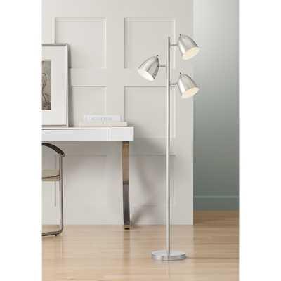 Aaron 3-Light Tree Brushed Nickel Floor Lamp - Style # 41A89 - Lamps Plus