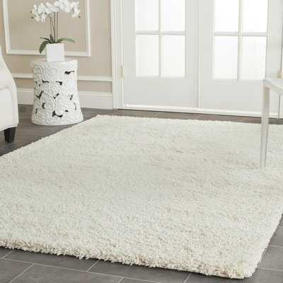 Mckeehan Shag and Flokati Ivory Area Rug - Wayfair