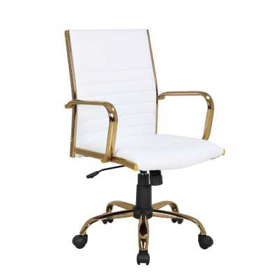 Master Contemporary Office Chair White/Gold - LumiSource - Target