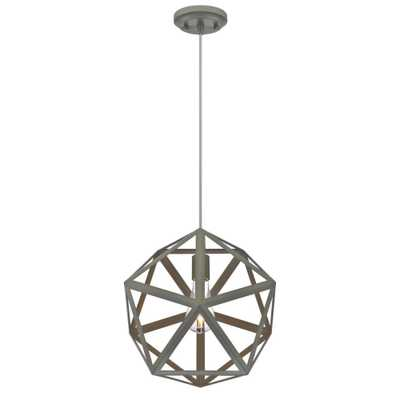 Westinghouse 1-Light Matte Grey Pendant - Home Depot