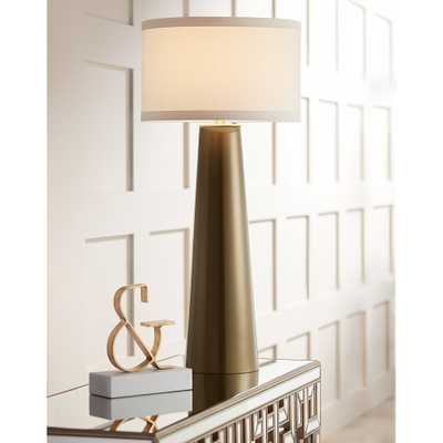 Possini Euro Karen Dark Gold Glass Table Lamp - Style # 9X296 - Lamps Plus