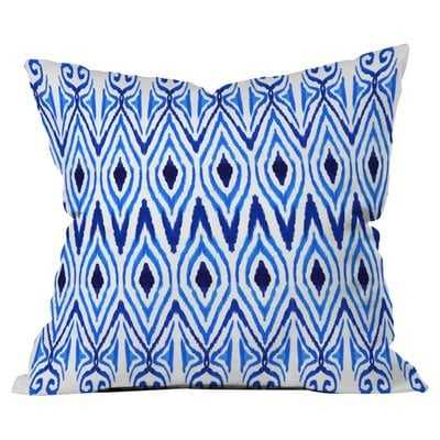 Ikat Blue Pillow - Wayfair