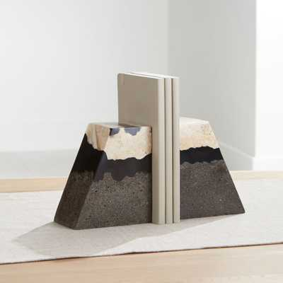 Lava Resin Stone Bookends, Set of 2 - Crate and Barrel