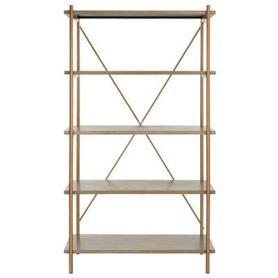 Safavieh Rigby Rustic Oak/Gold 5-Tier Etagere - Home Depot