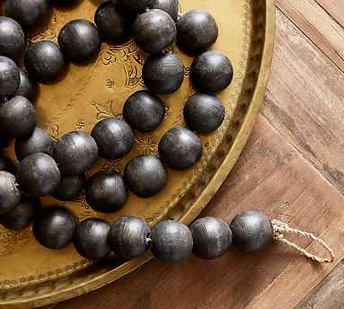 Beaded Rope Decorative Object, Black, Medium - Pottery Barn
