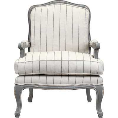 Armchair in Distressed Gray - Wayfair