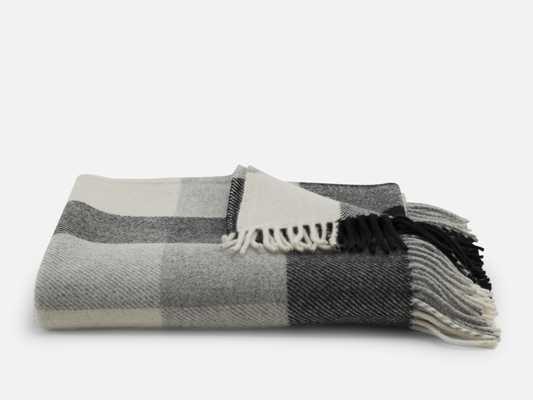 Pendleton Throw Blanket - Black Check - Brooklinen