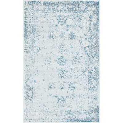 Brandt Oriental Light Blue/Gray/Ivory Area Rug - AllModern