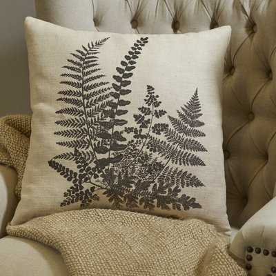 Newfolden Pen-and-Ink Fern Pillow Cover - Birch Lane