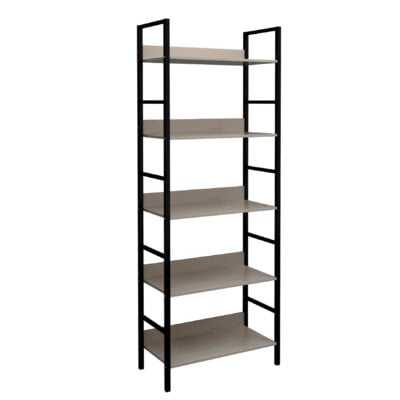 Chesley Wood and Metal Etagere Bookcase - Wayfair