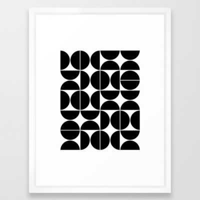 Mid Century Modern Geometric 04 Black Framed Art Print by Theoldartstudio - Society6