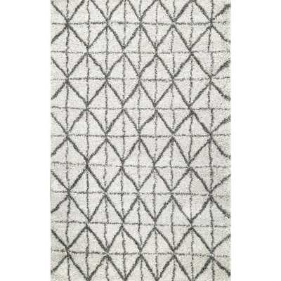 Keely Tiles Shaggy Ivory 9 ft. x 12 ft. Area Rug - Home Depot