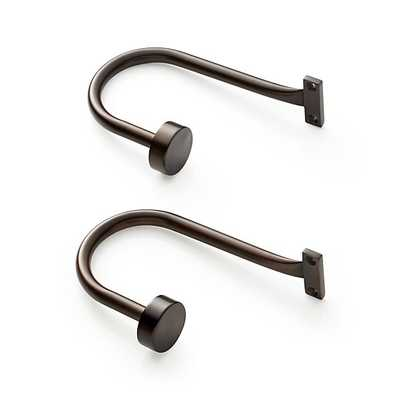 Set of 2 Matte Bronze Curtain Tie Backs - Crate and Barrel