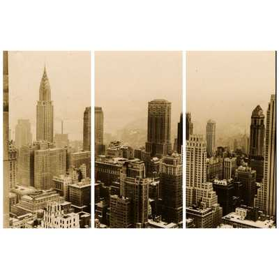 Dahle '1935 NYC Triptych' 3 Piece Photographic Print on Wrapped Canvas Set - Wayfair