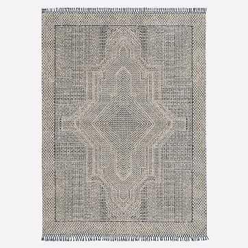 Indra Rug, Indigo, 8'x10' - West Elm
