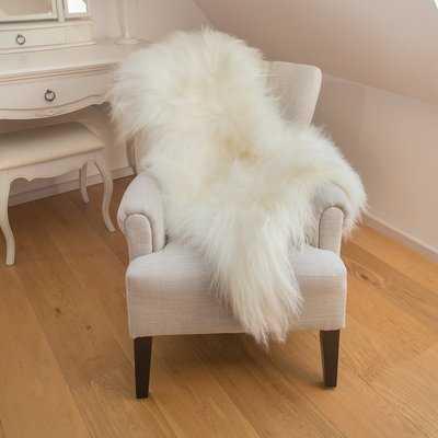 Huitt Sheepskin White/Ivory Area Rug - Wayfair