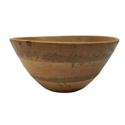 Vintage Inspired 10.75 in. Brown Mango Wood Bowl - Home Depot