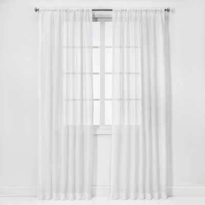 """84""""x54"""" Open Weave Sheer Window Curtain Panel White - Project 62 - Target"""