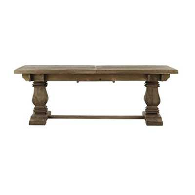 Aldridge Antique Grey Extendable Dining Table - Home Depot