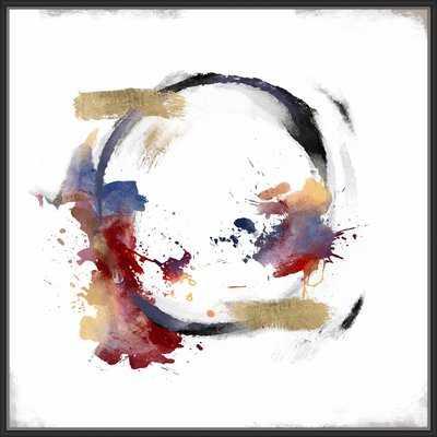 'Abstrac Circle' Framed Print on Canvas - Wayfair