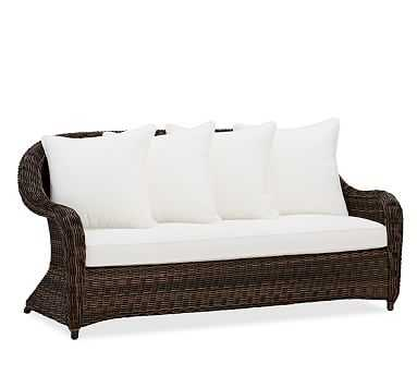 Torrey All-Weather Wicker Roll-Arm Sofa - Pottery Barn