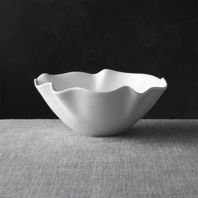 """White Ruffle 11"""" Small Bowl - Crate and Barrel"""