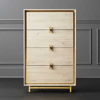 Lara Acacia Tall Chest - CB2