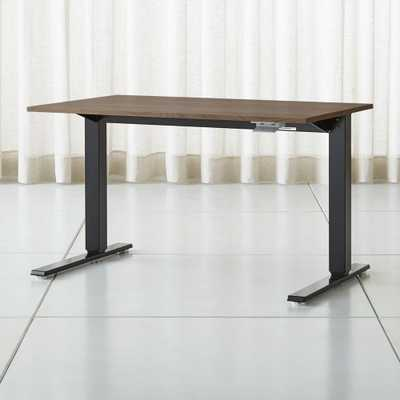"Humanscale ® Float ® Sit/Stand 48"" Walnut Desk - Crate and Barrel"