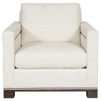 Michael Weiss Michael Weiss Nailhead Living Room White Arm Chair - Kathy Kuo Home