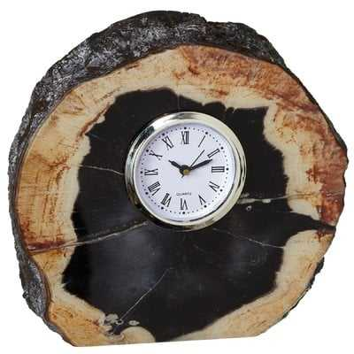 Faux Agate Tabletop Clock - Wayfair