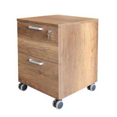 West Village Wood 2-Drawer Mobile Vertical Filing Cabinet - Wayfair