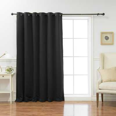 Best Home Fashion Wide Basic 80 in. W x 108 in. L Blackout Curtain in Black - Home Depot