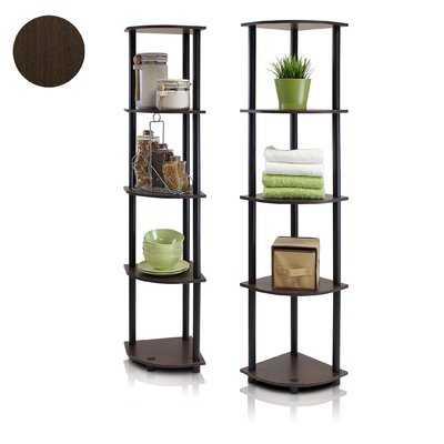Multipurpose Display Corner Unit Bookcase - Wayfair