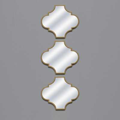 Gold Irregular Shape Mirror (Set of 3) - Home Depot