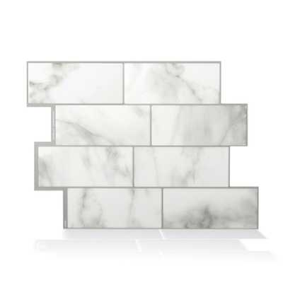 Metro Carrera Grey 11.56 in. W x 8.38 in. H Peel and Stick Self-Adhesive Decorative Mosaic Wall Tile Backplash, Grays - Home Depot