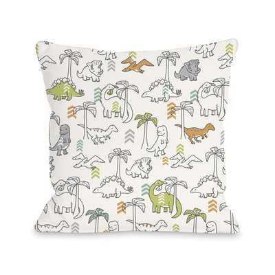 Baby Dinos Throw Pillow - Wayfair