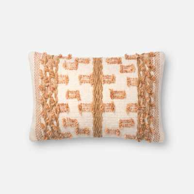 PILLOWS - BEIGE / RUST - Magnolia Home by Joana Gaines Crafted by Loloi Rugs