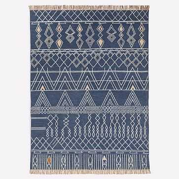 Summit Indoor/Outdoor Rug, Midnight, 8'x10' - West Elm