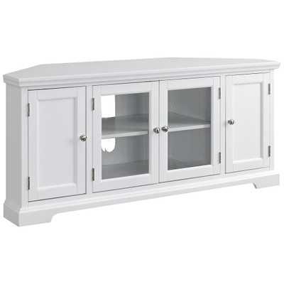 Leick White Wood 4-Door Corner TV Console - Style # 62Y24 - Lamps Plus