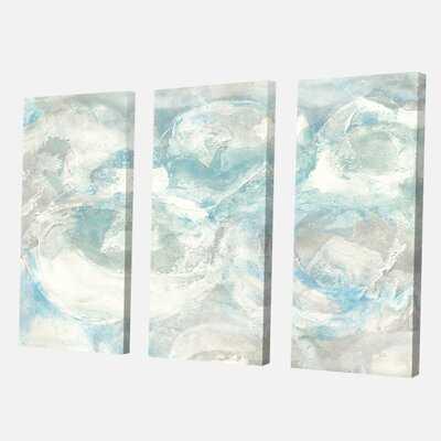 Farmhouse 'Pale Blue Shade III' Painting Multi-Piece Image on Canvas - Wayfair