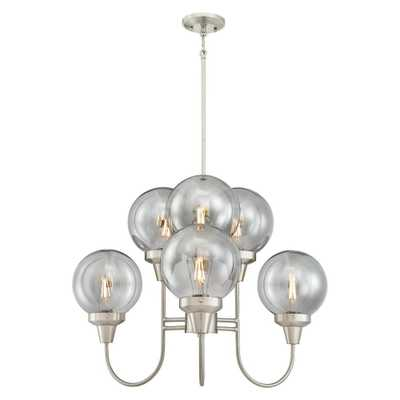 Westinghouse Byron 6-Light Brushed Nickel Chandelier with Smoke Grey Glass Globes - Home Depot