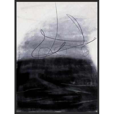 'Abstract Black 2' Framed Graphic Art Print on Canvas - Wayfair