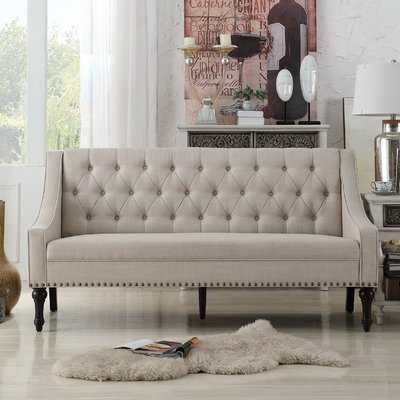 Jamila Tufted Sofa, Beige - Wayfair