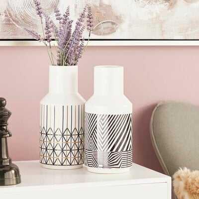 Geometric-Inspired Bud 2 Piece Table Vase Set - AllModern