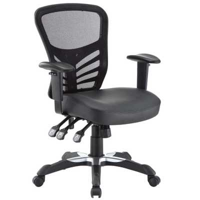 Office Chair Modway Midnight Black - Target