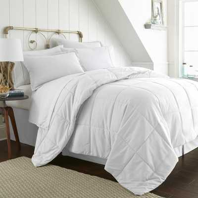 Bed In A Bag Performance White Queen 8-Piece Bedding Set - Home Depot
