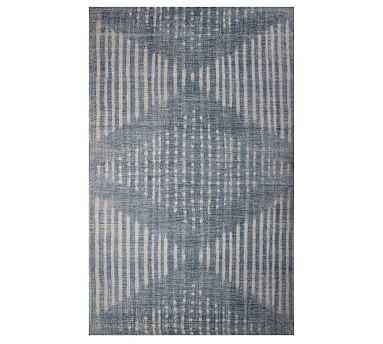 Shibori Indoor/Outdoor Rug, 8' x 10', Indigo - Pottery Barn