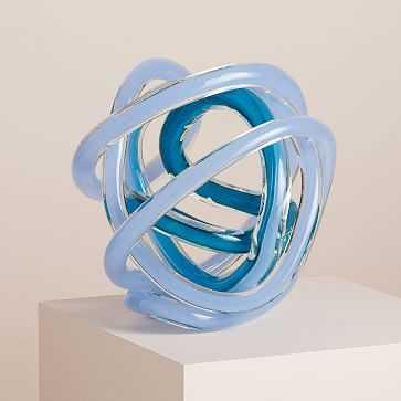 Glass Knot, Large, Blue Teal - West Elm